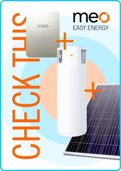 Aktionspaket: meo BOX, Fotovoltaik und Brauchwasser-Wärmepumpe