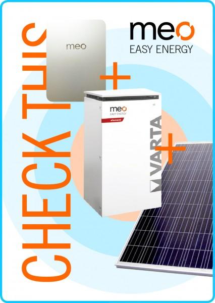 Aktionspaket: meo BOX, Fotovoltaik und Batteriespeicher